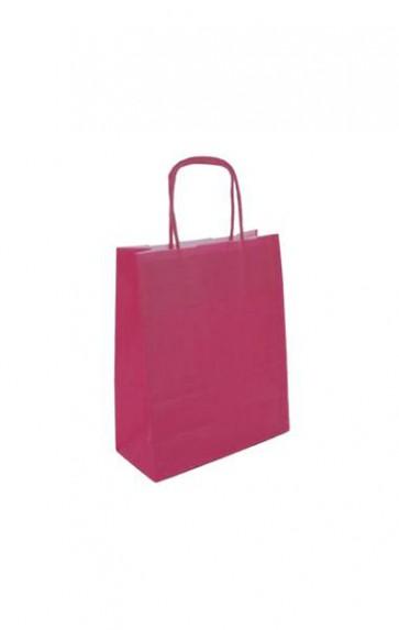Papieren draagtas 18x8x22cm roze