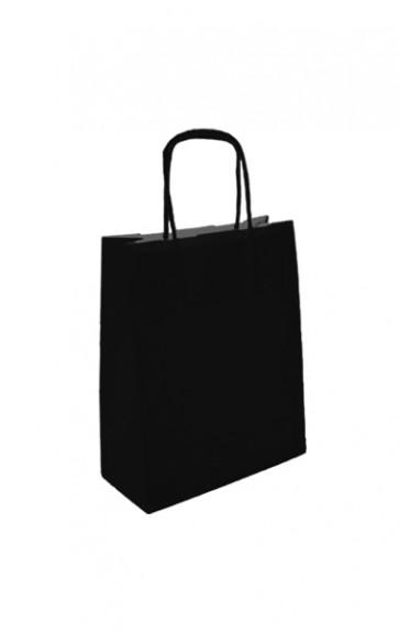 Papieren draagtas 24x11x3cm zwart