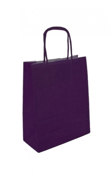 Papieren draagtas 32x14x42cm aubergine (bxdxh) per 50 stuks