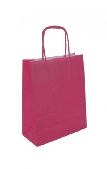 Papieren draagtas 32x14x42cm roze