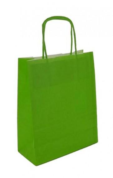 Papieren draagtas 45x17x48cm limoen (bxdxh) per 50 stuks