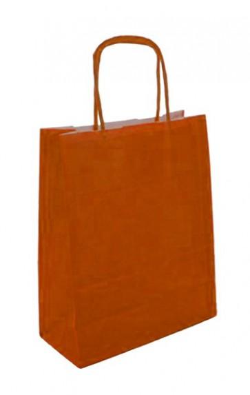 Papieren draagtas 45x17x48cm oranje (bxdxh) per 50 stuks