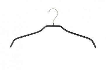 Anti-slip kledinghanger B46 cm halslijnmodel Zwart