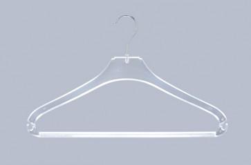 Broek-rok-shirt kledinghanger B33 cm Transparant met broeklat