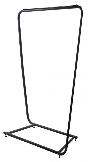Design kledingrek rechthoek zwart 90cm breed