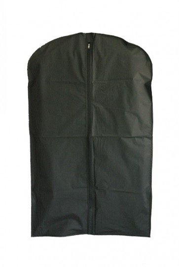 Enkele kledinghoes L 100cm met rits zwart