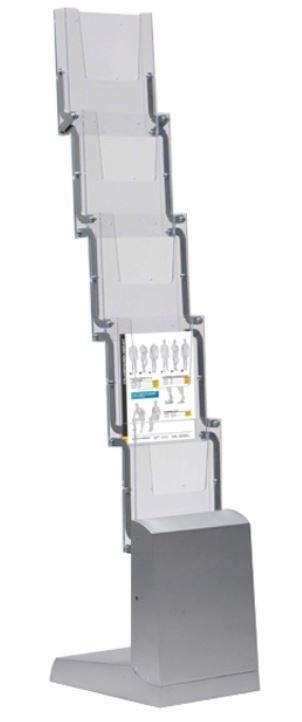 Folderstandaard opvouwbaar 5 x A4 aluminium