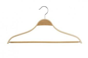 Gelaagde hanger 46 cm met antisl lat Blank gelakt