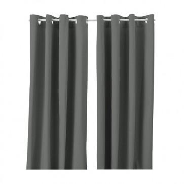 Paskamergordijn grijs 2 stuks