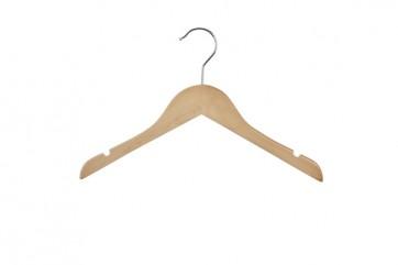 Kinder kledinghanger 32 cm Blank gelakt hout