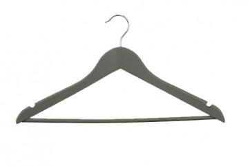 Geknikte kledinghanger 44 cm met broeklat antraciet grijs