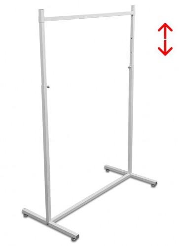 Kledingrek design 98 x 123-187cm verstelbaar wit