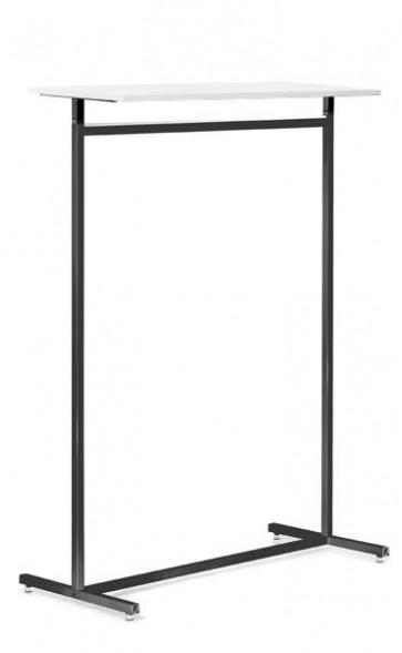 Kledingrek design recht grijs vierkante buis legbord