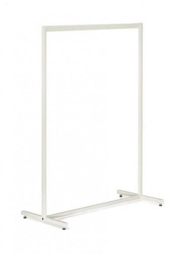 Kledingrek design recht wit 153 hoog