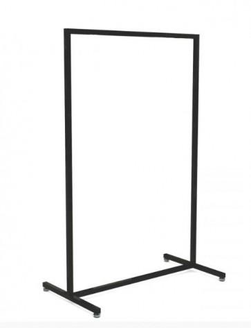 Kledingrek design recht zwart 153 hoog