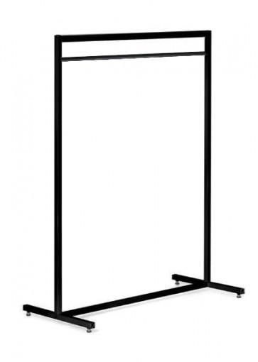 Kledingrek design recht zwart 153 met roede hoog 1