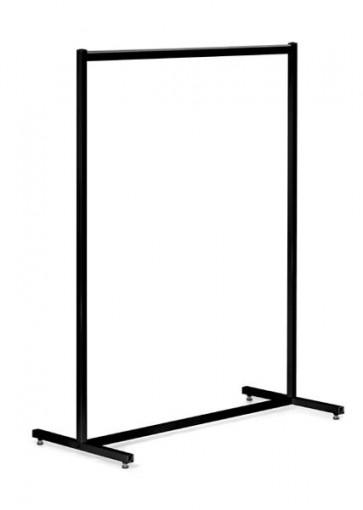 Kledingrek design recht zwart 130 cm hoog