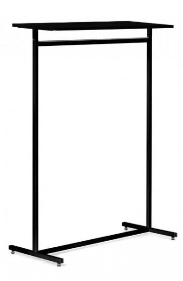 Kledingrek design recht vierkante buis zwart legbord