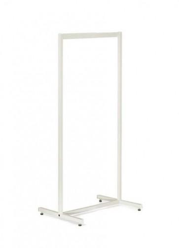 Kledingrek design wit smal 63 x 153 cm