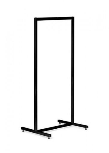 Kledingrek design zwart smal 63 x 153 cm