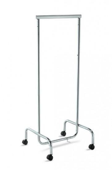 Kledingrek smal B61xH150xD55cm chroom
