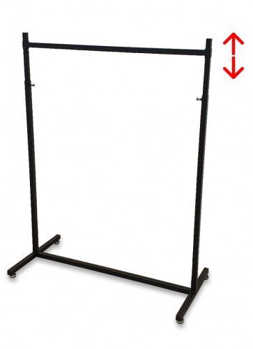 Kledingrek design 98 x 123-187cm verstelbaar zwart