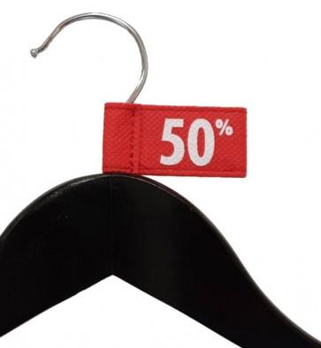 Label aanduider vaantje kledinghangers 50% thumbnail