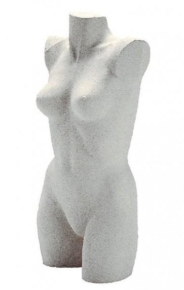 Lingerietorso vrouw licht graniet zonder armen