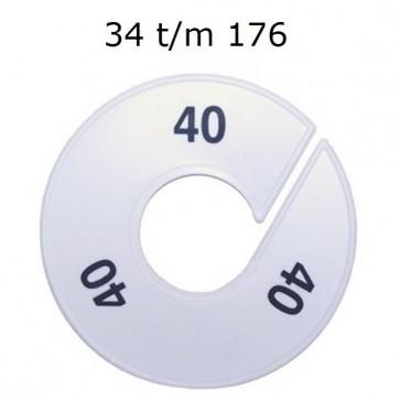 Maataanduider ring 34-176 wit