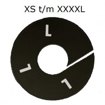 Maataanduider kledingrekken XS t/m XXXXL zwart