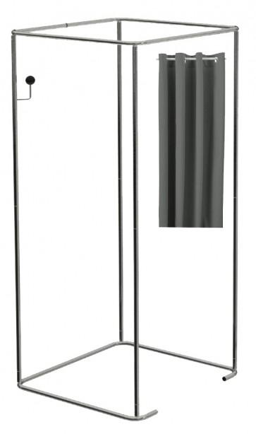 Mobiele paskamer incl grijze gordijnen