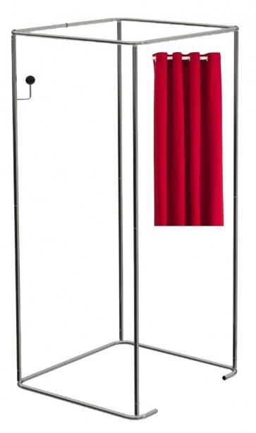 Mobiele paskamer incl rode gordijnen