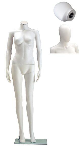 Onbreekbare dames etalagepop H4 met hoofd