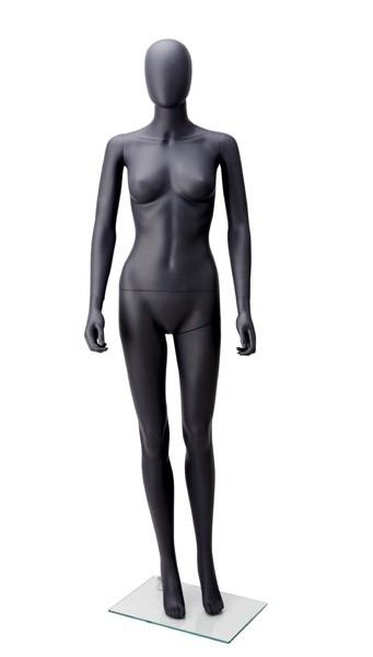 Onbreekbare dames etalagepop H3 met hoofd antraciet grijs