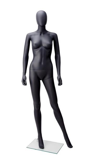 Onbreekbare Etalagepop vrouw antraciet grijs houding 1