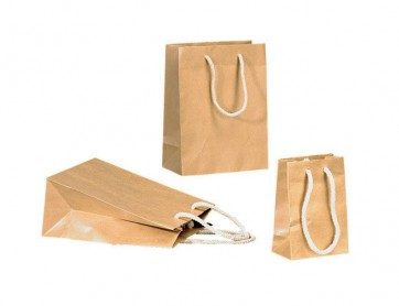 Papieren draagtas 16x8x15cm (bxdxh) Bruin