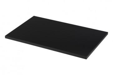Wandrek rail zwart dubbele perforatie per paar 150cm lang