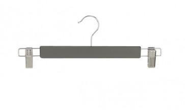 Rechte kledinghanger 34 cm antraciet grijs