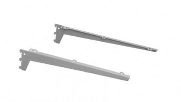 Schapdrager legbord 380mm grijs (RAL9006) per paar