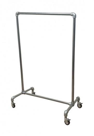 Steigerbuis kledingrek op wielen 100 cm breed verzinkt