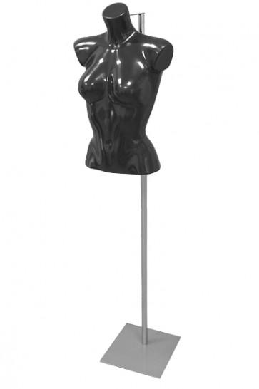 Dames torso kort zwart op verstelbare voet