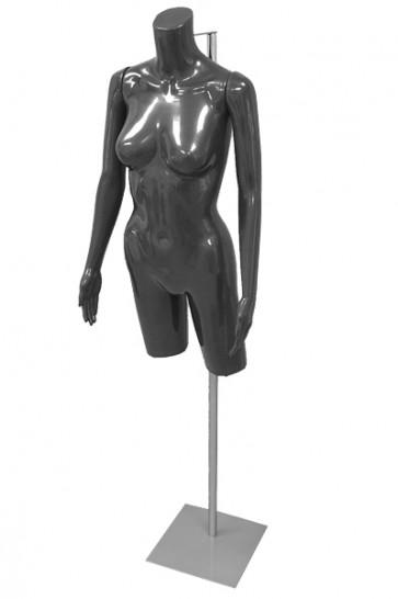 Dames torso zwart met armen op verstelbare voet