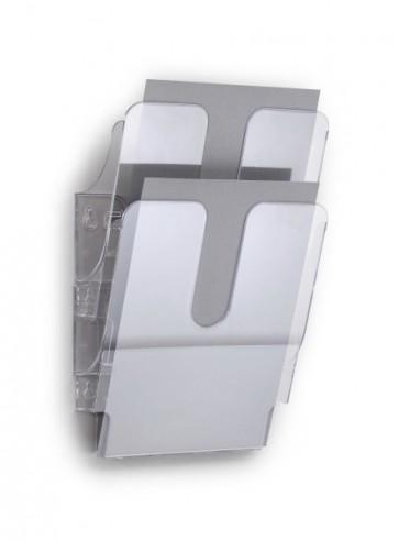 Wand folderrek 2x A4 transparant