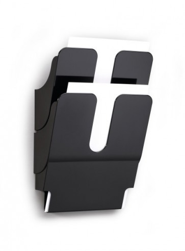 Wand folderrek 2x A4 zwart