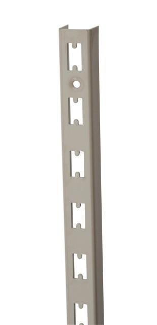 Wandrek rail grijs (RAL9006) 240cm hoog extra sterk