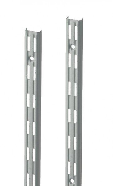 Wandrek rail wit dubbele perforatie per paar 150cm lang