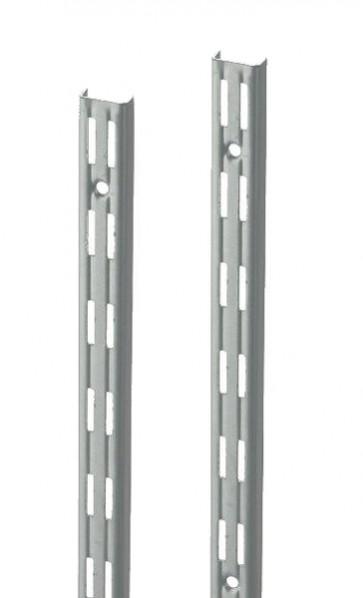 Wandrek rail wit dubbele perforatie per paar 200cm lang