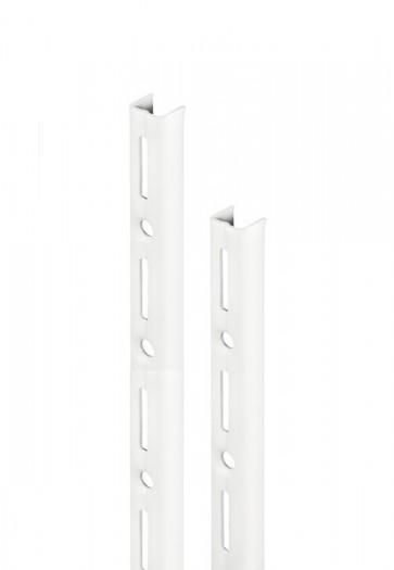 Wandrek rail wit enkele perforatie per paar 200cm