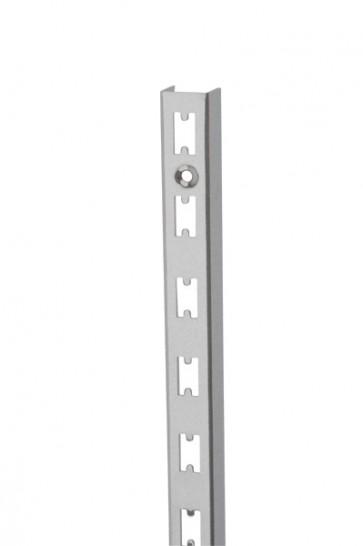 Wandrek rail RVS-look 240cm hoog extra sterk