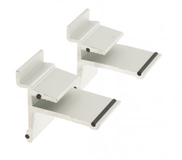 Paar glaslegborddragers voor glas Aluminium
